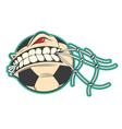 Crazy Soccer sticker vector image