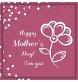Flower Mothers Day Pink vector image