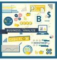 Money finance Business Analyze icon design vector image