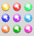 Skull icon sign symbol on nine wavy colourful vector image