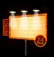 Blank illuminated billboard poster vector image
