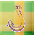 Abstract fishhook vector image