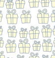 Holiday background of gifts present seamless vector image