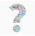 Colorful Question mark vector image