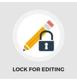 Lock for editing flat icon vector image