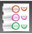 Colorful bookmarks vector image vector image