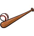 baseball ball and bat cartoon clip art vector image