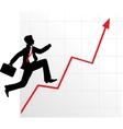 business graph diagram vector image