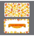 Card with discount of 20 percent Autumn flyer vector image