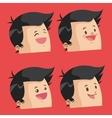 Cartoon man design vector image