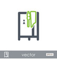 cloakroom on the beach icon summer vacation vector image