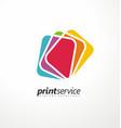 creative logo design idea for printing shop vector image