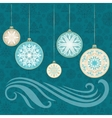 New Year Snowflake Card vector image