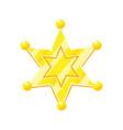 sheriff marshal golden cartoon glossy star vector image