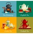Tea Concept Icons Set vector image