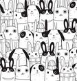 rabbit seamless pattern c vector image vector image