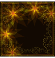 Ornamental golden background with decorative vector image vector image