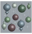 Background Christmas balls soft vector image