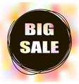 doodle sale tag big sale banner vector image