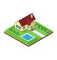 icometric house icon vector image