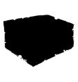 silhouette of bath sponge vector image