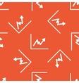 Orange rising graphic pattern vector image