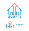 logo house with up arrow vector image