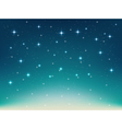 background with night stars vector image