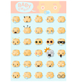 Baby emoji icons 1 vector image