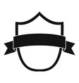 badge modern icon simple black style vector image