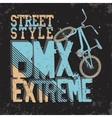 BMX Riding Typography vector image