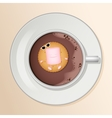 Cacao and Marshmallow Cartoon Characters vector image