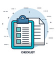 checklist document paper file office image vector image