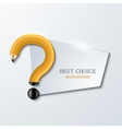concept pencil and question mark vector image