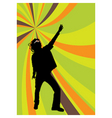 disco dancer vector image