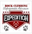 Expedition Mountain climbing Climber vector image