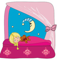 little girl dreaming vector image