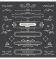 Set of Vintage Decorations Elements vector image