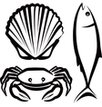 simple with seafood vector image