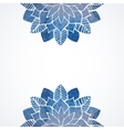 Watercolor floral blue pattern on white background vector image