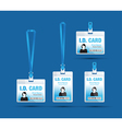 id card woman blue vector image vector image
