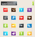 hockey bookmark icons vector image