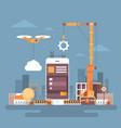 mobile application web development cell smart vector image
