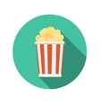Flat Design Concept Popcorn Icon With Long S vector image