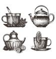 tea party logo design template drink or vector image