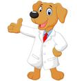 Carton doctor dog posing vector image