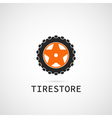 tire store logo template vector image vector image