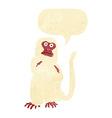 cartoon monkey with speech bubble vector image