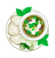 Thai Green Curry with Thai Rice Vermicelli vector image vector image
