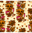 Seamless Autumn Floral Background vector image vector image